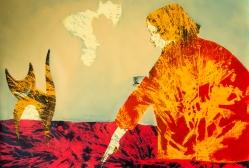 Chechire. aissa santiso. oil on canvas.120x80cm