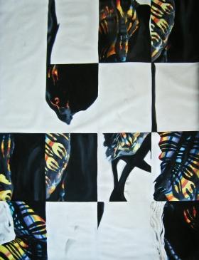 en el hombro conmigo va-de la serie-Lo que queda de mí-Aissa M. Santiso Camiade 2012.óleo_lienzo.180x120cm