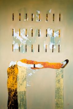Eterno sueño. oil on canvas. 130x190cm, aissa santiso. 2016