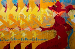 House of cards, aissa santiso, 34,4x 51inch, oil on canvas, 2017