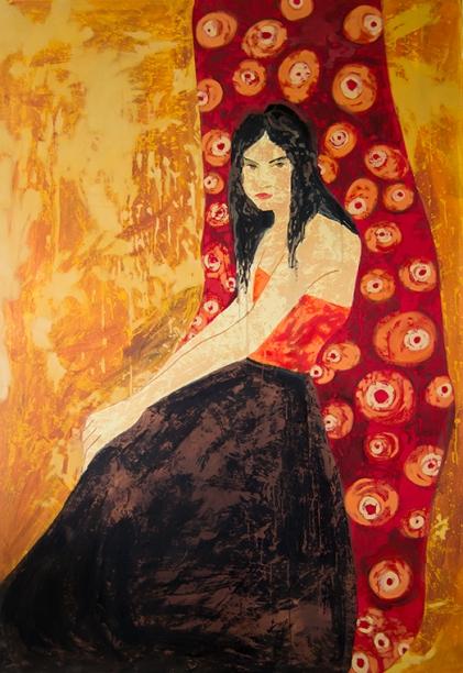 Ms. Bechabell. aissa santiso.oil on canvas.190x130cm