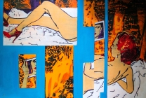 odalisca, 47 x 70 feet, oil on canvas, aissa santiso, 2016 copia