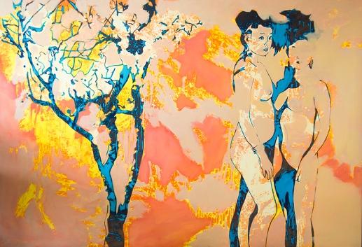 Otoño. aissa santiso. oil on canvas. 190x130cm