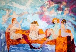 Roedores. oil on canvas. aissa santiso.190x130cm.2015