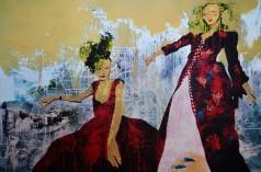 Siamés. oil on canvas. 120x180cm. aissa Santiso. 2015