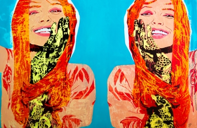 Temperance, aissa santiso, 34,8 x 51 inch, oil on canvas, 2017
