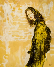 espejo..oil on canvas. aissa santiso. 80 x 100cm. 2018